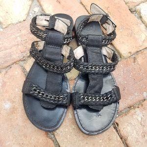 Modern Vintage Anthropologie Black Sandals Leather